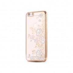Coque silicone gel FLOWERS Apple iPhone 6/6S Plus Rose