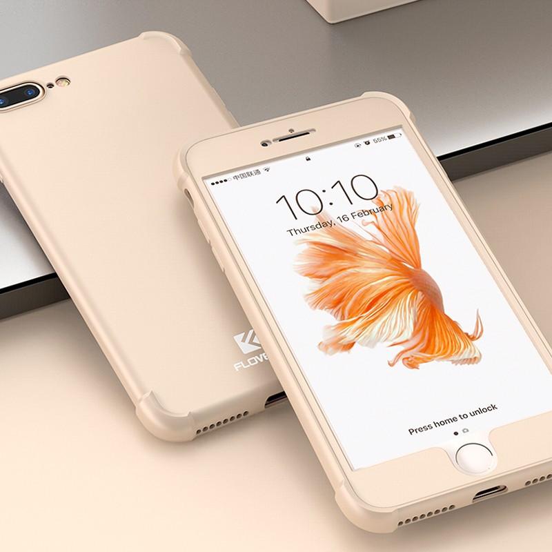 Coque FLOVEME 360° Protection angles renforcés Apple iPhone 7/8 Plus Or
