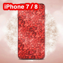 Coque rigide FLOVEME ICE CRACKING Series Apple iPhone 7/8 Rouge