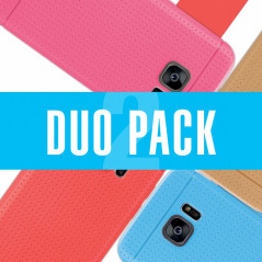 DUOPACK Coque Honeycomb Dots Samsung Galaxy S7 Edge