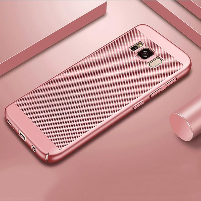 Coque rigide FLOVEME MESH Samsung Galaxy S8 Plus Or Rose