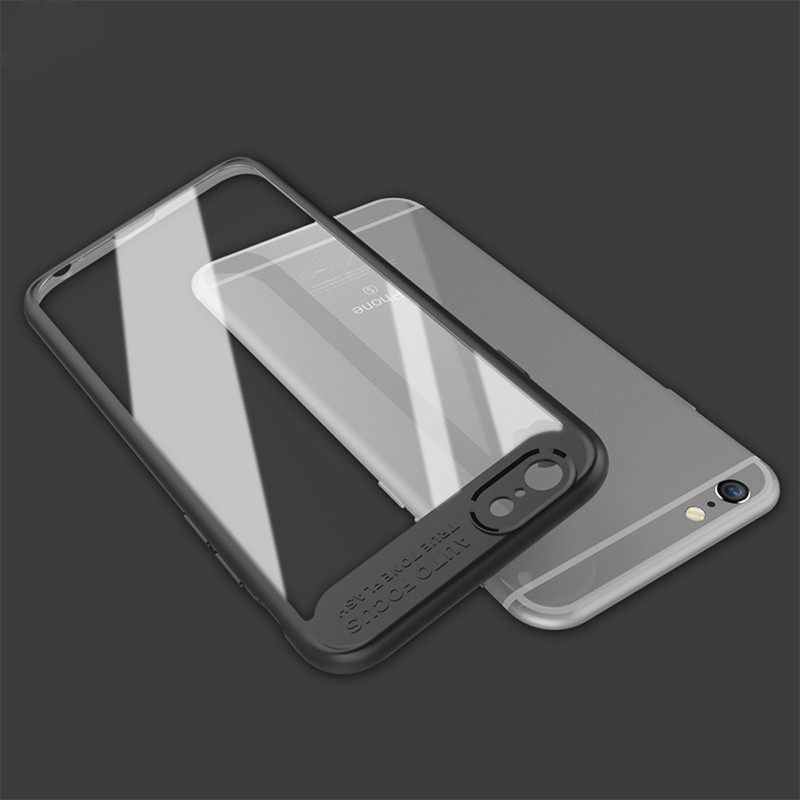 Coque rigide FLOVEME ultra-Clear contours Bumper antichoc Apple iPhone 6/6S Noir