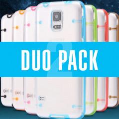 DuoPACK Coque transparente Luminious Samsung Galaxy S5