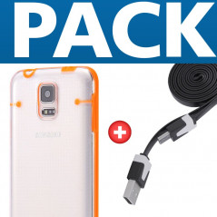PACK Coque Luminious + Câble microUSB Samsung Galaxy S5