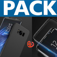 Pack Coque rigide Floveme Frosty Series + Protection écran Samsung Galaxy S8 Plus