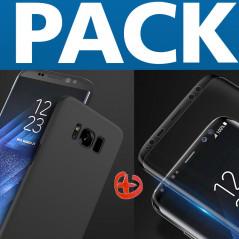 Pack Coque rigide Floveme Frosty Series + Protection écran Samsung Galaxy S8 Plus