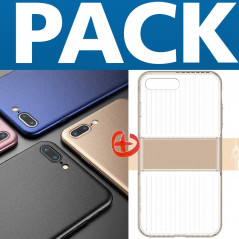Pack Coque rigide Floveme Frosty Series + Coque LUGGAGE TRAVELLING Apple iPhone 7/8 Plus