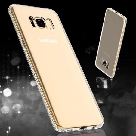 Coque souple Floveme Crystal contours strass Samsung Galaxy S8 Plus