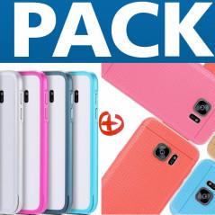 Pack Coque Honeycomb Dots + Coque aluminium Samsung Galaxy S7