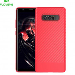 Coque silicone gel Floveme Carbon Style Samsung Galaxy Note 8
