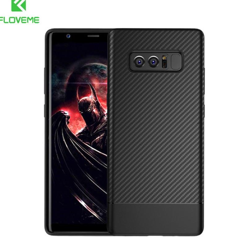 Coque silicone gel Floveme Carbon Style Samsung Galaxy Note 8 Noir