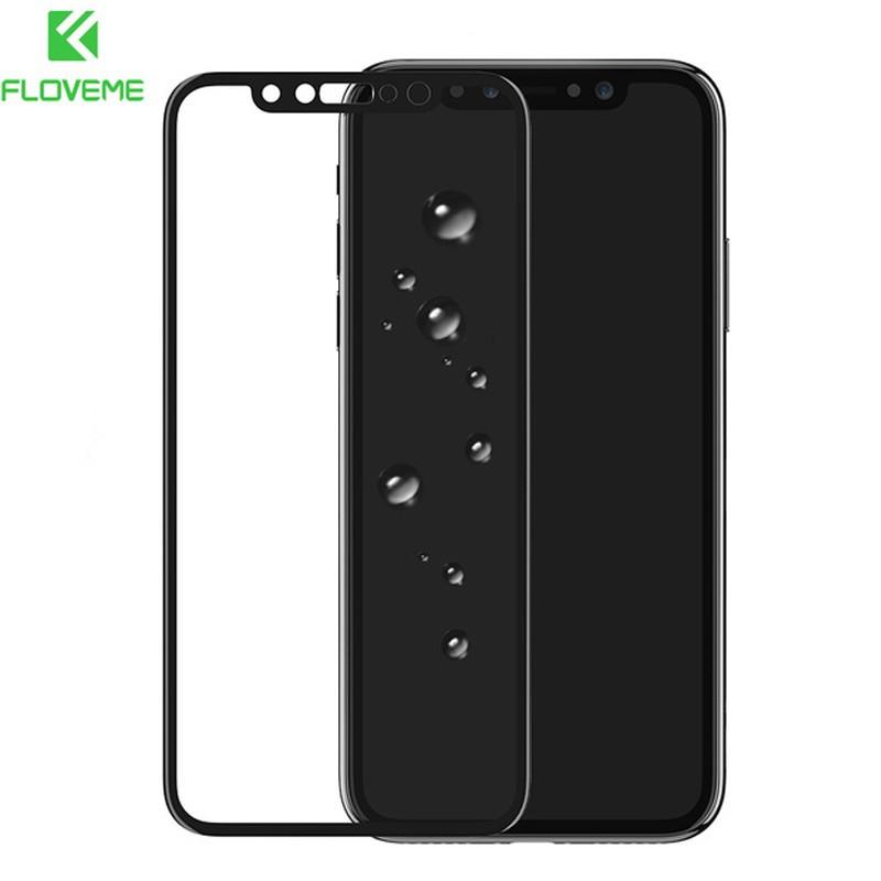 Protection écran verre trempé intégrale avec contour Apple iPhone X Noir