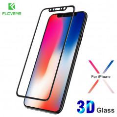 Protection écran verre trempé intégrale avec contour Apple iPhone X/Xs