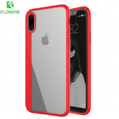 Coque rigide FLOVEME ultra-Clear contours Bumper antichoc Apple iPhone X
