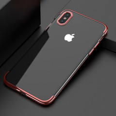 Coque silicone gel FLOVEME 3D Plating contour métallisé Apple iPhone X