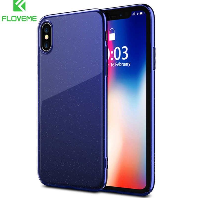 Coque rigide FLOVEME Sparking Series Apple iPhone X Bleu