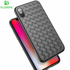 Coque silicone gel FLOVEME GRID Series Apple iPhone X