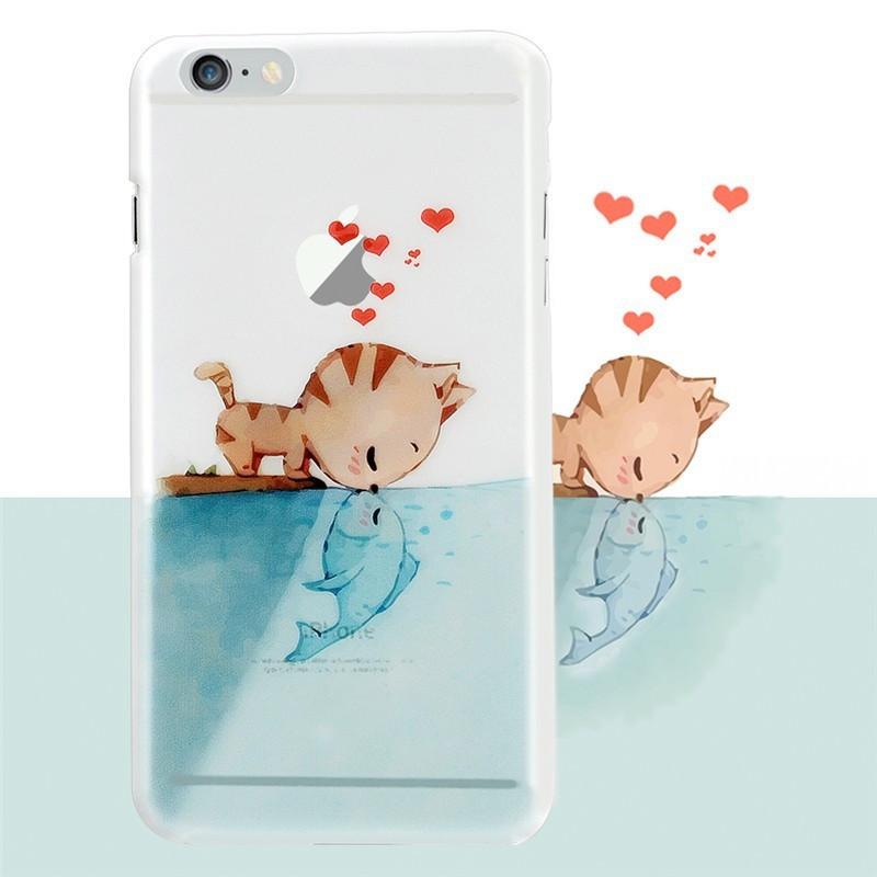 Coque rigide Cat-Fish-in-Love Apple iPhone 6/6S Plus