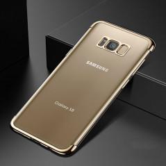 Coque silicone gel FLOVEME 3D Plating contours métallisé Samsung Galaxy S8 Plus Or