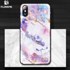 Coque rigide FLOVEME Effet Marbré Apple iPhone X
