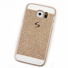 Coque pailletée Powder Glitter Samsung Galaxy S6 Rose