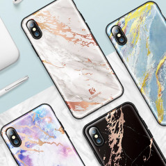 Coque rigide FLOVEME Effet Marbré Apple iPhone X/Xs