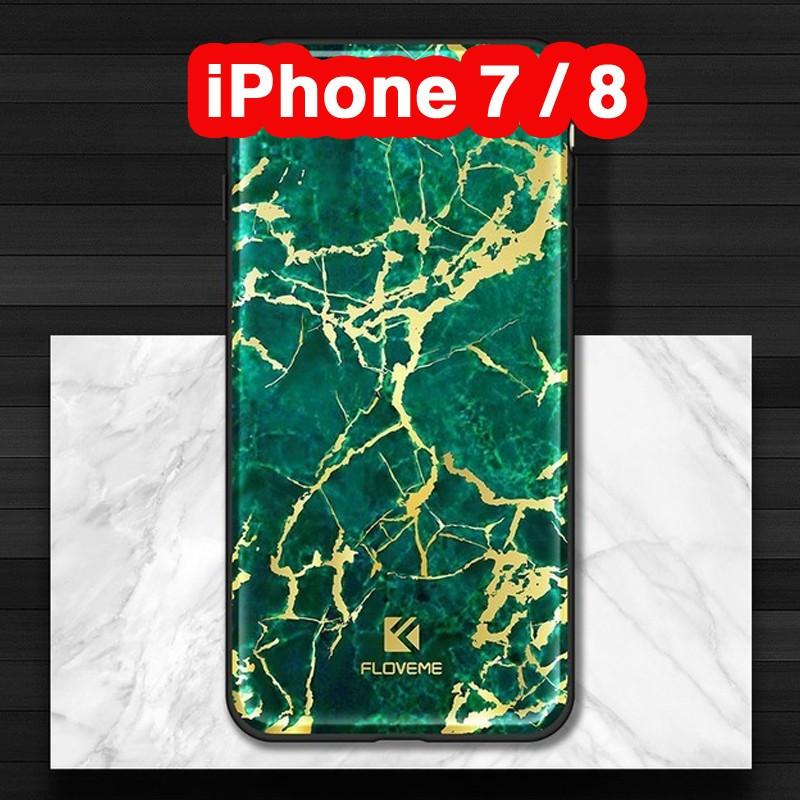 Coque rigide FLOVEME Effet Marbré Apple iPhone 7/8 Vert