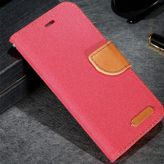 Etui folio CLOTH SKIN Apple iPhone 6/6S Rouge