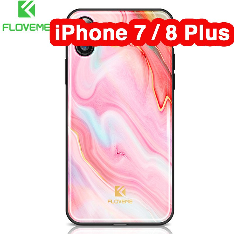 Coque rigide FLOVEME Agate Series Apple iPhone 7/8 Plus Rose