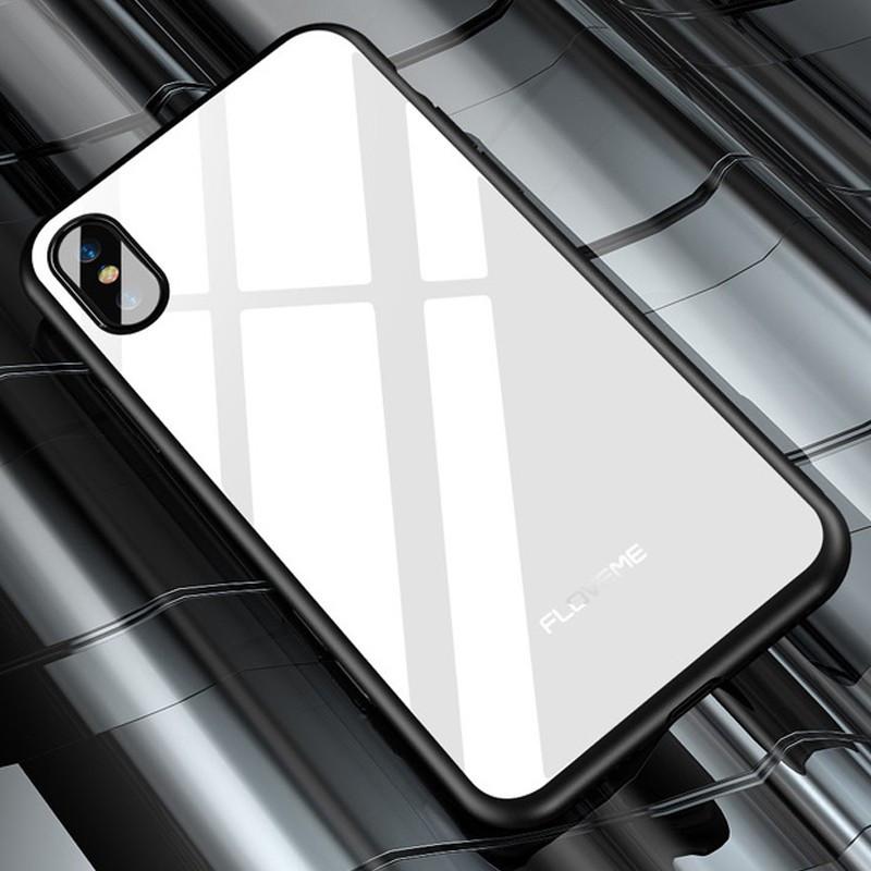 Coque rigide FLOVEME Vitros Series Apple iPhone X Blanc