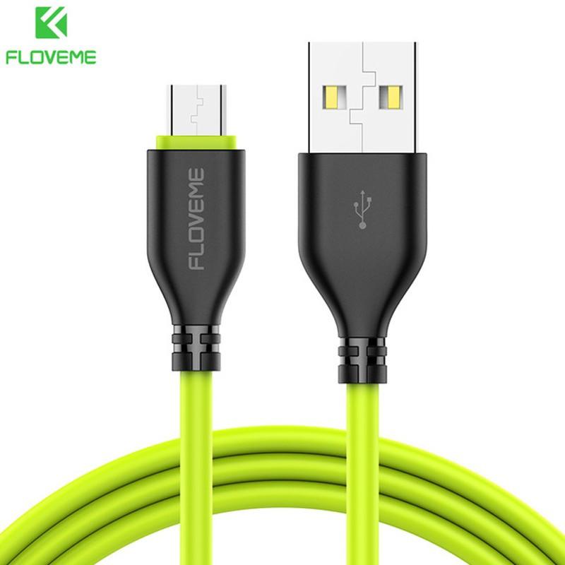 Câble USB 1m FLOVEME Reversible Lightning-MicroUSB Vert