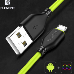 Câble USB 1m FLOVEME Reversible Lightning-MicroUSB