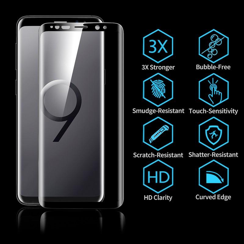 Protection écran verre trempé intégrale ESR avec contour Samsung Galaxy S9 Noir