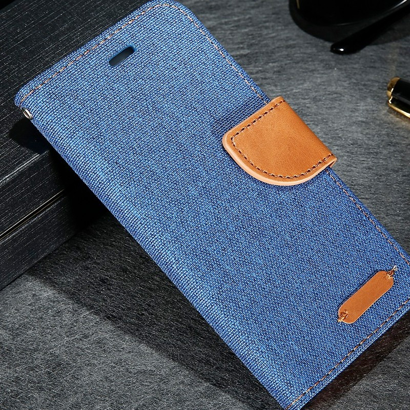 Etui folio CLOTH SKIN Apple iPhone 6/6S Plus Bleu