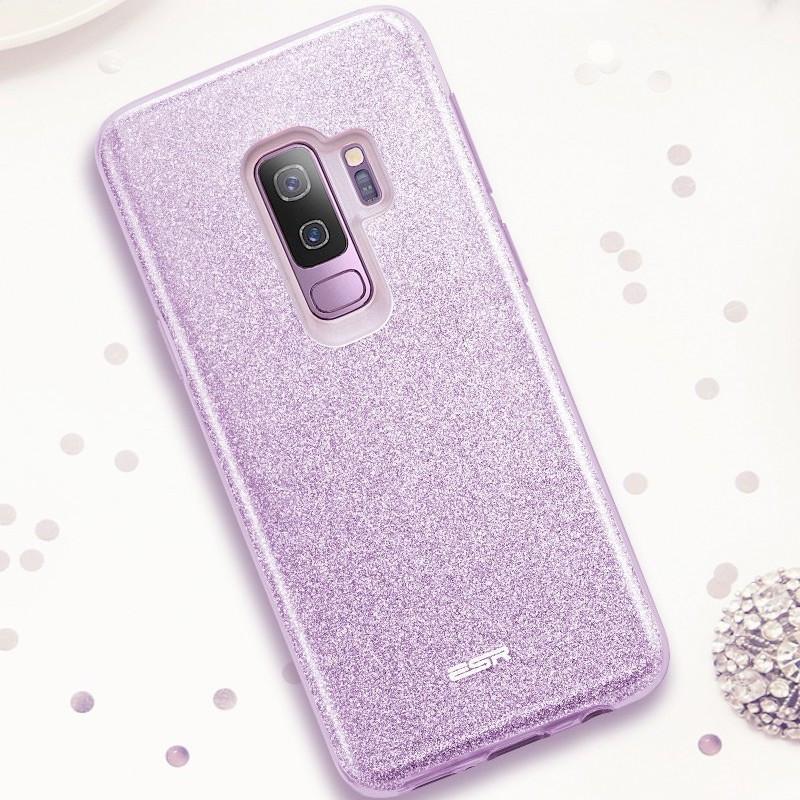 Coque rigide ESR pailletée étincelante Samsung Galaxy S9 Plus Violet