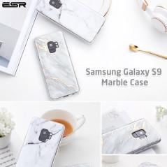 Coque silicone gel ESR Effet Marbré Samsung Galaxy S9