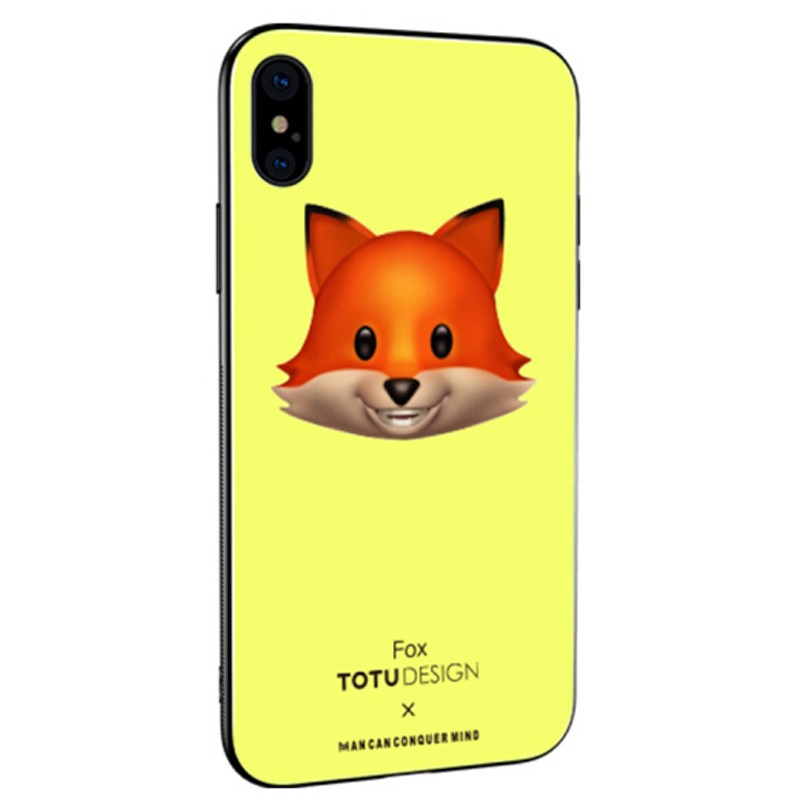 Coque rigide TOTUDesign Vitros Animoji Series Apple iPhone X Fox