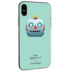 Coque rigide TOTUDesign Vitros Animoji Series Apple iPhone X/Xs Robot