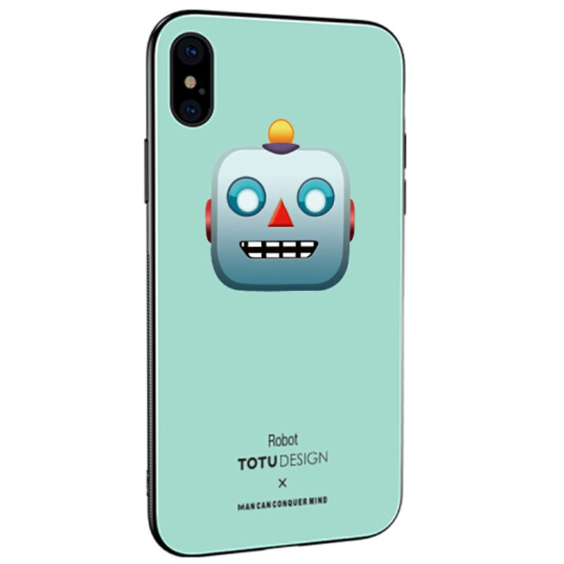 Coque rigide TOTUDesign Vitros Animoji Series Apple iPhone X Robot
