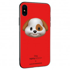 Coque rigide TOTUDesign Vitros Animoji Series Apple iPhone X/Xs Dog