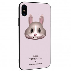 Coque rigide TOTUDesign Vitros Animoji Series Apple iPhone X/Xs Rabbit