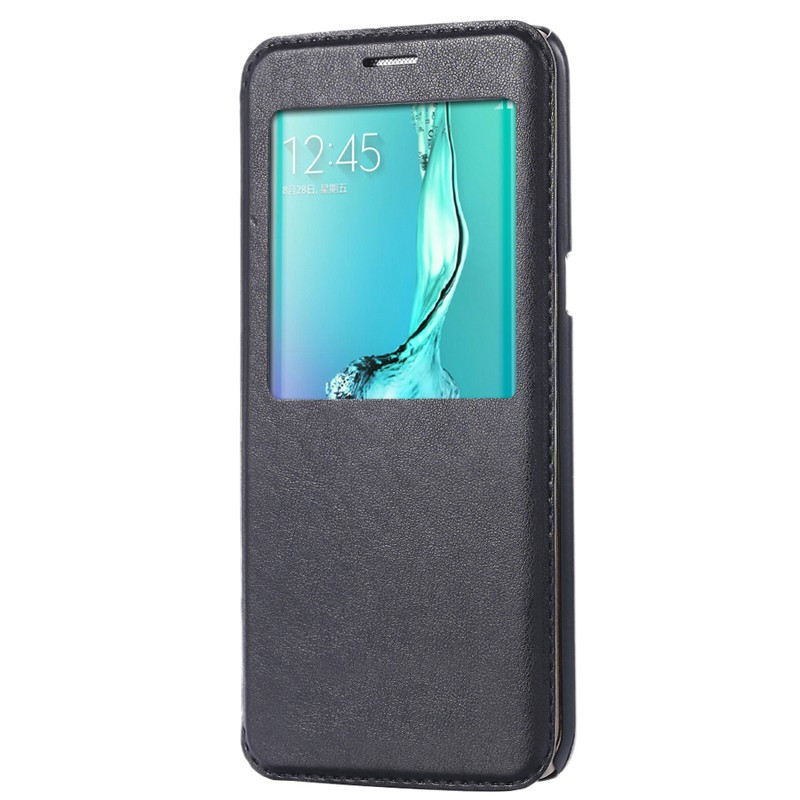 Etui folio Smart Answer Samsung Galaxy S6 Edge Plus Noir