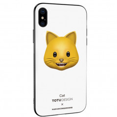 Coque rigide TOTUDesign Vitros Animoji Series Apple iPhone X Cat