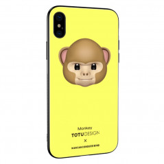 Coque rigide TOTUDesign Vitros Animoji Series Apple iPhone X Monkey
