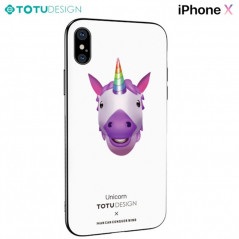 Coque rigide TOTUDesign Vitros Animoji Series Apple iPhone X Unicorn