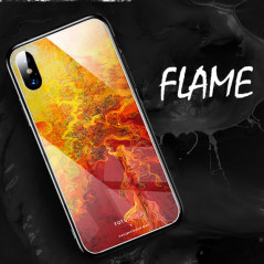 Coque rigide TOTUDesign Vitros ink Series Apple iPhone X Flame
