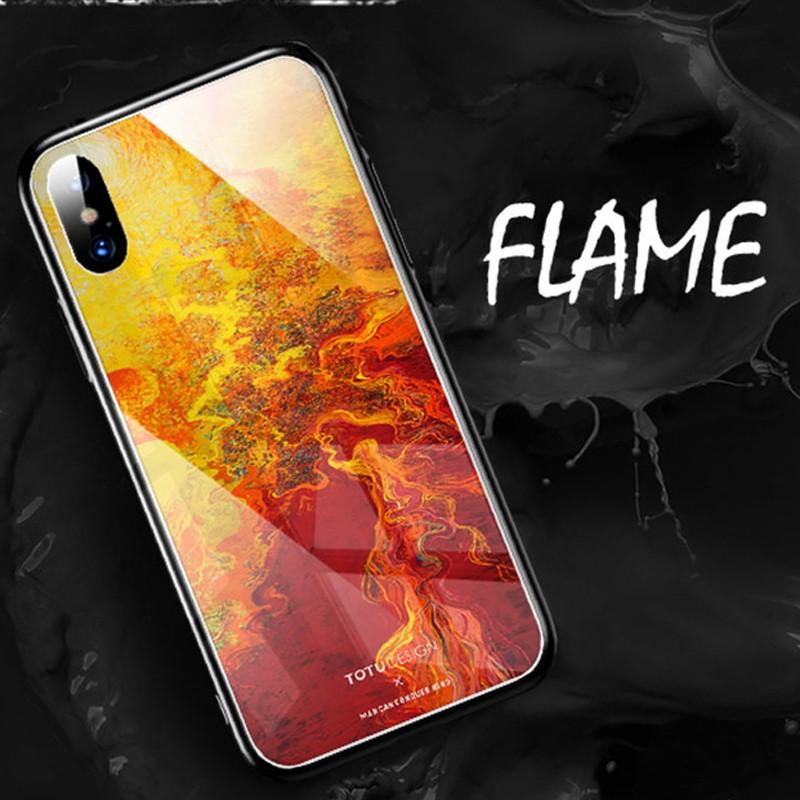 Coque rigide TOTUDesign Vitros ink Series Apple iPhone X Flame