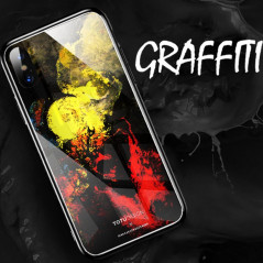 Coque rigide TOTUDesign Vitros ink Series Apple iPhone X Graffiti