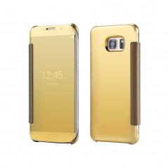 Etui folio Mirror Clear View Samsung Galaxy S6 Or