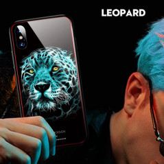 Coque rigide TOTUDesign Vitros Animals Series Apple iPhone X Léopard
